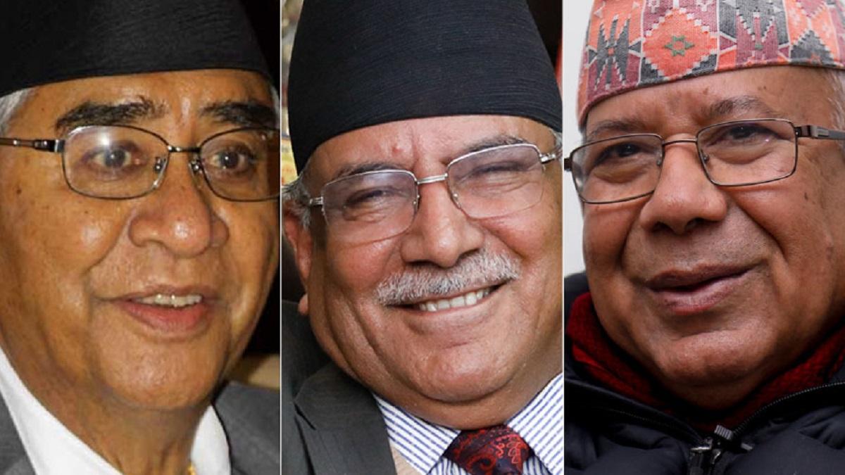 सत्ता समीकरणबारे दाहाल–नेपाल र देउवाको भेटघाट, संयुक्त सरकार बनाउने प्रस्ताव