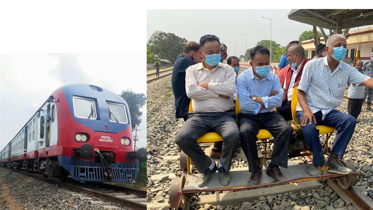 बहुप्रतिक्षित जनकपुर–जयनगर रेलको ट्र्याकको आज गति परीक्षण गरिने